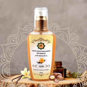 Body care with vanilla argan oil