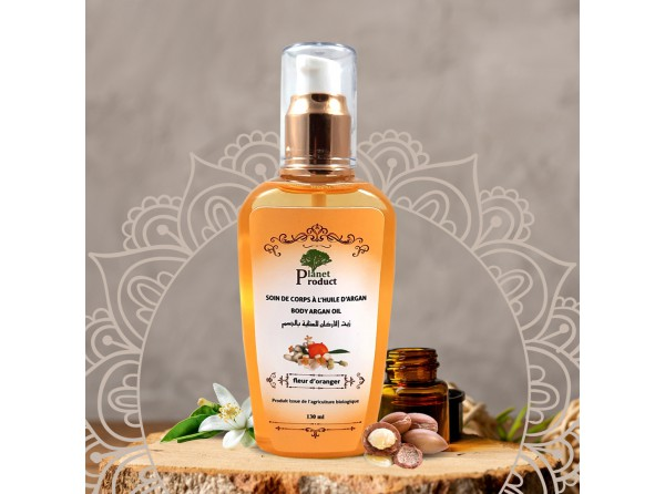 Body care with argan oil with orange blossom