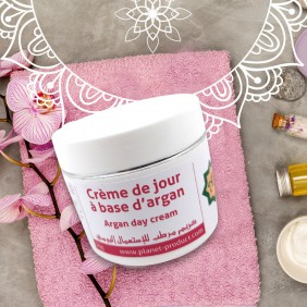 Cream of day on base of argan 50g