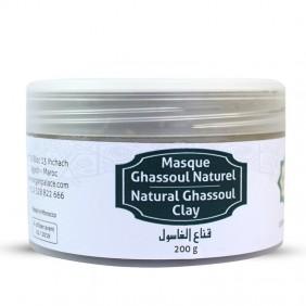Masque en argile noir du Maroc